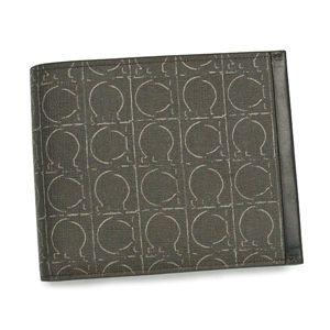 Ferragamo(フェラガモ) 二つ折り財布(小銭入れ付) ツイストナッパ 668655 LONDON 420738 ブラウン/ダークブラウン