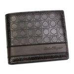 Ferragamo(フェラガモ) 二つ折り財布(小銭入れ付) GAMMA 668734 433495 ブラウン