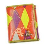 Vivienne Westwood(ヴィヴィアンウエストウッド) Wホック財布 NEW HARLEQUIN 737 オレンジ