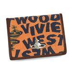 Vivienne Westwood(ヴィヴィアンウエストウッド) 定期入れ STONEAGE 724 オレンジ