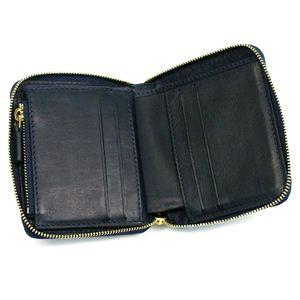 Celine(セリーヌ) 二つ折り財布(小銭入れ付) LOGO 10989 COMPACT ZIPPED MULTIFUNCTION 07OC ネイビー