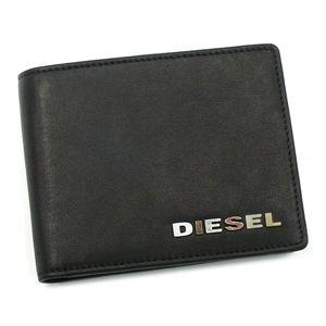 DIESEL(ディーゼル) 二つ折り財布(小銭入れ付) JEM WALLETS 00XP32 HIRESH SMALL T8013 ブラック