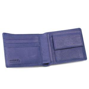 DIESEL(ディーゼル) 二つ折り財布(小銭入れ付) JEM WALLETS 00XP32 HIRESH SMALL T6026 ブルー