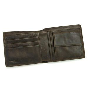 DIESEL(ディーゼル) 二つ折り財布(小銭入れ付) JEM-BOSS 00XP38 HIRESH SMALL EMBOSS T2178 ダークブラウン