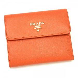 Prada(プラダ) 三つ折り財布(小銭入れ付) SAFFIANO METAL ORO 1M0170 F0311 SALMON