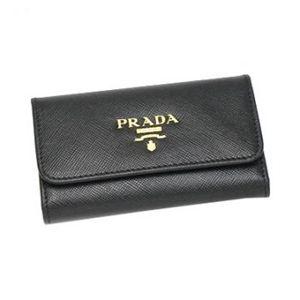Prada(プラダ) キーケース SAFFIANO METAL ORO 1M0222 F0002 ブラック