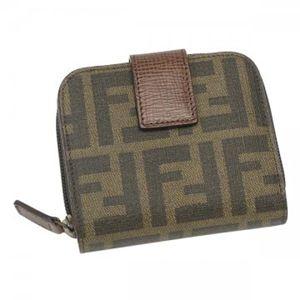 Fendi(フェンディ) 二つ折り財布(小銭入れ付) ZUCCA PU LOGO 8M0070 F0BTR ブラウン