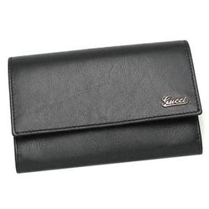 Gucci(グッチ) 中長財布 LADIES SCRIPT 190365 1000 ブラック