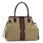 Gucci(グッチ) トートバッグ HORSEBIT TASSEL 232969 9791 ベージュ/ダークブラウン 【ブランド7sale】12月7日15時まで限定値下げ1個限り