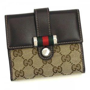 Gucci(グッチ) Wホック財布 MATCH BALL 233004 9791 ベージュ/ダークブラウン