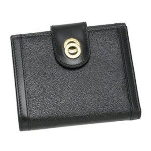 Bvlgari(ブルガリ) Wホック財布 DOPPIO TONDO 25215 ブラック/ゴールド