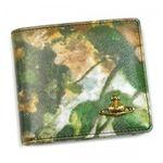 Vivienne Westwood(ヴィヴィアンウエストウッド) 二つ折り財布(小銭入れ付) EBURY 730V レッド/ブラウン H10.5×W11×2.5