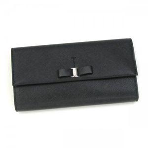 Ferragamo(フェラガモ) 長財布 VARA ICONA 22A953 434077 ブラック H10×W18.5×D2.5