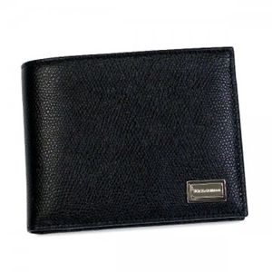 DOLCE&GABBANA(ドルチェアンドガッバーナ) 二つ折り財布(小銭入れ付)  BP0457 8B956 ブラック H9.5×W12×D2