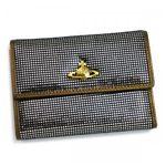 Vivienne Westwood(ヴィヴィアンウエストウッド) 二つ折り財布(小銭入れ付) NEW SLOANE 738V  シルバー H10×W13.5×D2.5
