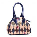 Vivienne Westwood(ヴィヴィアンウエストウッド) ハンドバッグ NEW HARLEQUIN 5073  ブルー H21×W29×D13