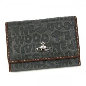 Vivienne Westwood(ヴィヴィアンウエストウッド) 二つ折り財布(小銭入れ付) BAM BAM 746V  グレー H9.5×W13.5×D2.5