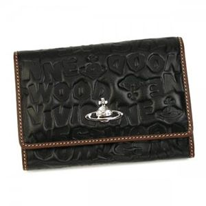 Vivienne Westwood(ヴィヴィアンウエストウッド) 二つ折り財布(小銭入れ付) BAM BAM 746V  ブラック H9.5×W13.5×D2.5