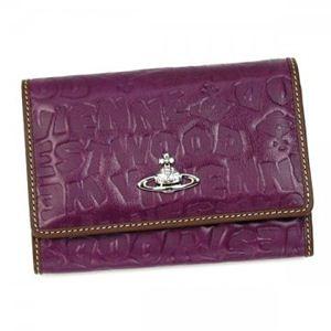 Vivienne Westwood(ヴィヴィアンウエストウッド) 二つ折り財布(小銭入れ付) BAM BAM 746V  ワイン H9.5×W13.5×D2.5