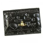 Vivienne Westwood(ヴィヴィアンウエストウッド) 二つ折り財布(小銭入れ付) EBURY CROSTA 746V  グレー H9.5×W13.5×D2.5