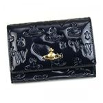Vivienne Westwood(ヴィヴィアンウエストウッド) 二つ折り財布(小銭入れ付) EBURY CROSTA 746V  ブルー H9.5×W13.5×D2.5