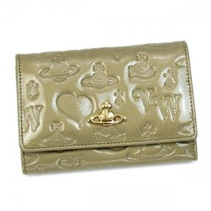 Vivienne Westwood(ヴィヴィアンウエストウッド) 二つ折り財布(小銭入れ付) EBURY CROSTA 746V  PLATINUM H9.5×W13.5×D2.5