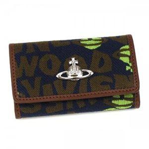 Vivienne Westwood(ヴィヴィアンウエストウッド) キーケース STONEAGE 720V  ブルー H6×W10×D2.5