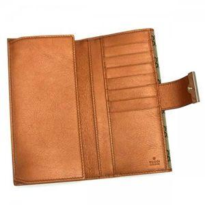 Gucci(グッチ) 長財布 ICON BAR 212089 8510 ベージュ/オレンジ H9.5×W19×D3.5