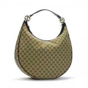 Gucci(グッチ) ホーボー GG TWINS 232945 9643 ベージュ/ダークブラウン H29×W40×D14