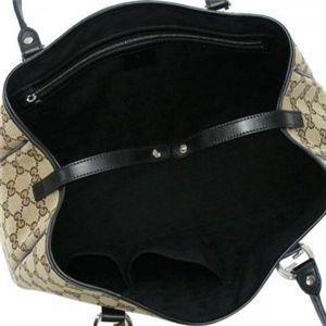 Gucci(グッチ) トートバッグ GG TWINS 232957 9769 ブラック/ベージュ H24×W27/37×D10
