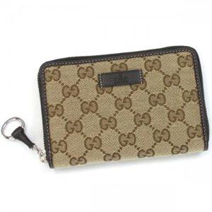 Gucci(グッチ) 二つ折り財布(小銭入れ付) ICON BIT 224249 9767 ベージュ/ダークブラウン H9.5×W14.5×D2.5