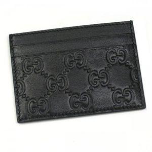 Gucci(グッチ) カードケース MEN BAR 233166 1000 ブラック H7.3×W10