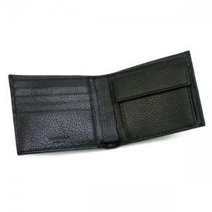 2010年12月20日までご注文いただくと、12月24日にお届け可能! EMPORIO ARMANI(エンポリオアルマーニ) 二つ折り財布(小銭入れ付) ASPEN YEM122 80001 ブラック H9.5×W11.5×D2.5