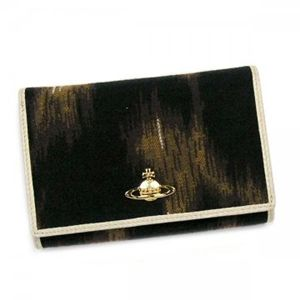 Vivienne Westwood(ヴィヴィアンウエストウッド) 2ツオリL字ファスナー LEOPARD 2232V ホワイト/ブラウン H10×W14.5×D3.5