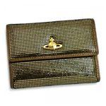 Vivienne Westwood(ヴィヴィアンウエストウッド) 二つ折り財布(小銭入れ付) NEW SLOANE 738V ゴールド H10×W13.5×D2.5