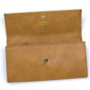 2010年12月20日までご注文いただくと、12月24日にお届け可能! Ferragamo(フェラガモ) 長財布 GANCINI ICONA VITELL 227121 439868 イエロー H10×W19×D2.5
