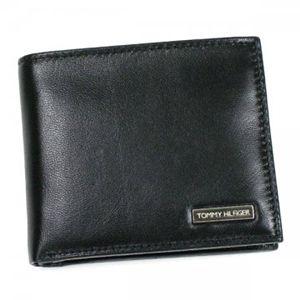 TOMMY HILFIGER(トミーヒルフィガー) 二つ折り財布(小銭入れ付) 6  ブラック H9×W10.5×D2