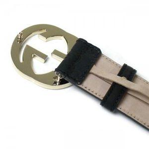 Gucci(グッチ) ベルト  114876 1000 ブラック/グレー B6×6.7