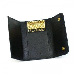 Prada(プラダ) キーケース SAFFIANO METAL ORO 1M0222 F0002 ブラック (H6×W10.5×D2)