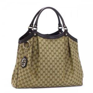 Gucci(グッチ) トートバッグ SUKEY 211943 9643 ベージュ/ダークブラウン (H33×W43×D14)