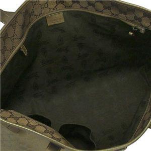Gucci(グッチ) トートバッグ TOTE 211137 1191 ブラック/グリーン (H28×W42/37×D11)