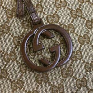Gucci(グッチ) トートバッグ GUCCI CHARM 247237 9794 ベージュ/ダークブラウン (H32×W25×D12)