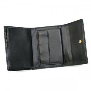 Gherardini(ゲラルディーニ) 三つ折り財布(小銭入れ付) SOFTY BASICO BS09 1 ブラック (H10×W13.5×D2.5)