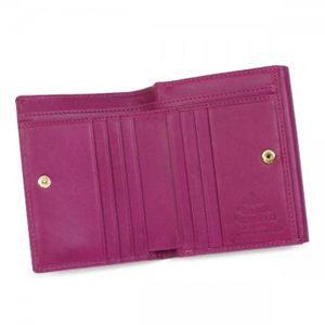 Vivienne Westwood(ヴィヴィアンウエストウッド) Wホック財布 NAPPA CALF 737V ピンク (H12×W10×D2)