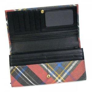 Vivienne Westwood(ヴィヴィアンウエストウッド) 長財布 DERBY 1032V レッド/ブラウン (H9.5×W19×D2.5)