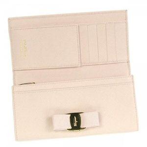 Ferragamo(フェラガモ) 長財布 VARA ICONA 22A900 457103 ライトピンク (H9.5×W19×D2.5)