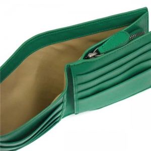 BOTTEGA VENETA(ボッテガベネタ) 二つ折り財布(小銭入れ付) PORTAMONETE INTRECCI 114073 3600 グリーン (H11×W12×D3)