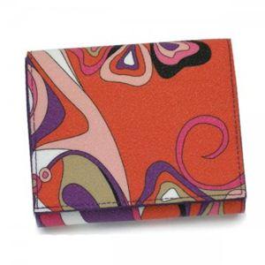 Emilio Pucci(エミリオプッチ) 二つ折り財布(小銭入れ付) 11SM73 18 パープル