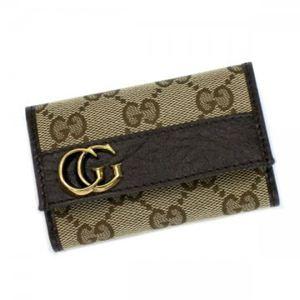 Gucci(グッチ) キーケース GG RUNNING 245761 9643 ベージュ/ダークブラウン