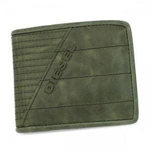 DIESEL(ディーゼル) 二つ折り財布(小銭入れ付) JEM-BOSS X00188 T7434 カーキー